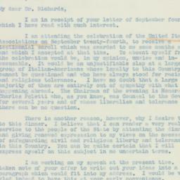 Letter : 1938 September 19