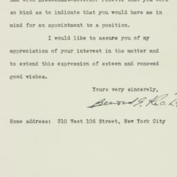 Letter : 1939 November 1