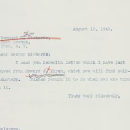 Letter : 1941 August 18