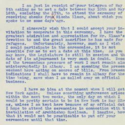 Letter : 1939 May 7