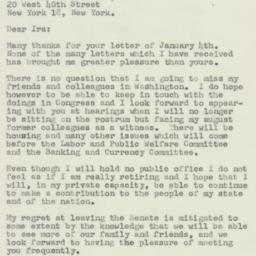 Letter : 1957 January 12