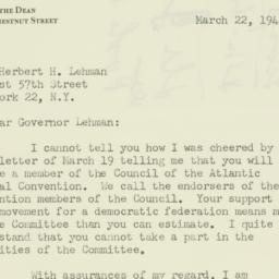 Letter : 1949 March 22
