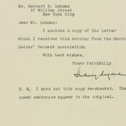 Letter: 1925 October 5