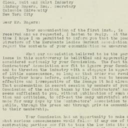 Letter : 1925 October 3