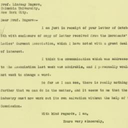 Letter: 1925 October 6