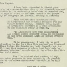 Letter: 1925 December 9