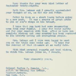 Letter : 1942 October 1