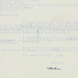 Letter : 1945 November 5