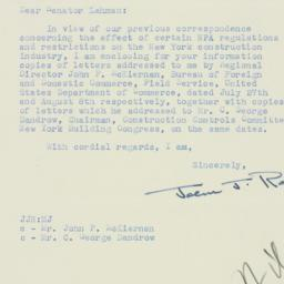 Letter : 1951 August 10