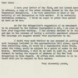 Letter : 1954 May 24