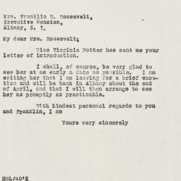 Letter: 1930 April 12