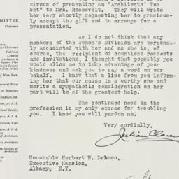 Letter: 1934 February 9