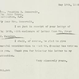 Letter: 1936 May 18