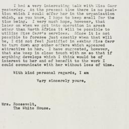 Letter: 1943 January 15