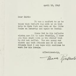 Letter: 1945 April 19