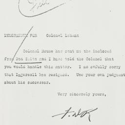 Letter: 1931 May 2