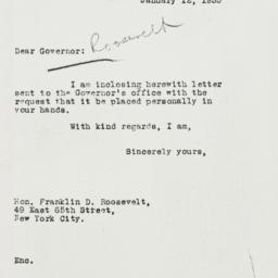Letter: 1933 January 12