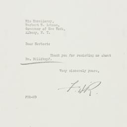 Letter: 1933 February 21
