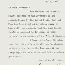Letter: 1933 May 5
