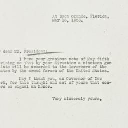 Letter: 1933 May 13