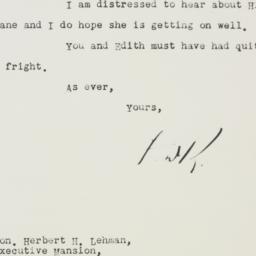 Letter: 1933 July 3
