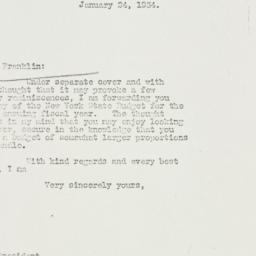 Letter: 1934 January 24