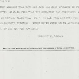 Telegram: 1934 March 19