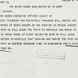 Telegram: 1936 August 10