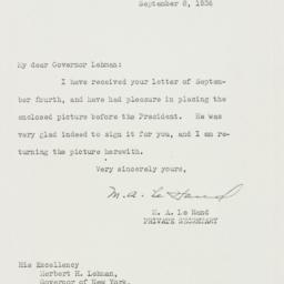 Letter: 1936 September 8