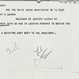 Telegram: 1936 September 15