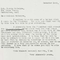 Letter: 1936 December 14