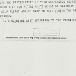 Telegram: 1937 March 1