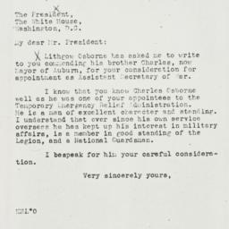 Letter: 1937 March 3