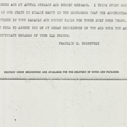 Telegram: 1938 January 1
