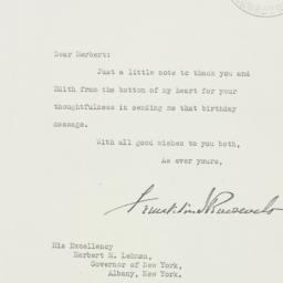 Letter: 1938 February 1