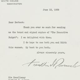 Letter: 1938 June 13