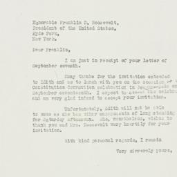Letter: 1938 September 9