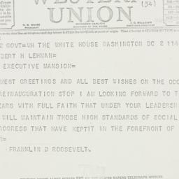Telegram: 1939 January 9