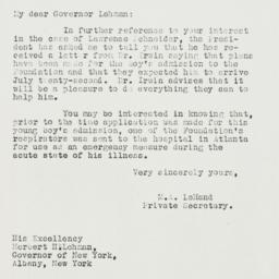 Letter: 1939 July 26