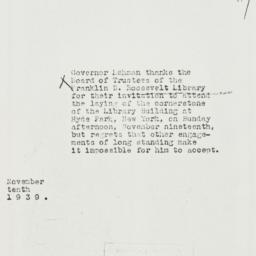 Note: 1939 November 10