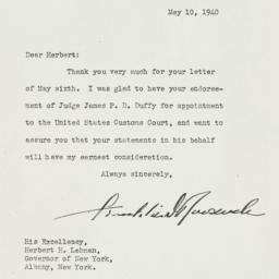 Letter: 1940 May 10