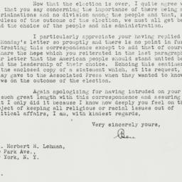 Letter: 1940 November 6