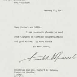 Letter: 1941 January 31