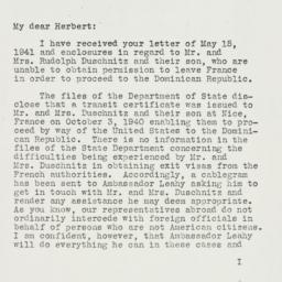 Letter: 1941 May 20