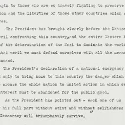 Press Release: 1941 May 29