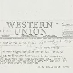 Telegram: 1942 January 1