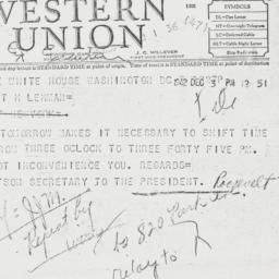 Telegram: 1942 December 3