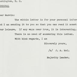 Letter: 1943 March 1