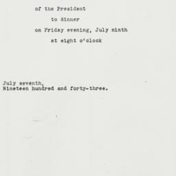 Letter: 1943 July 7