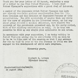 Letter: 1944 August 29